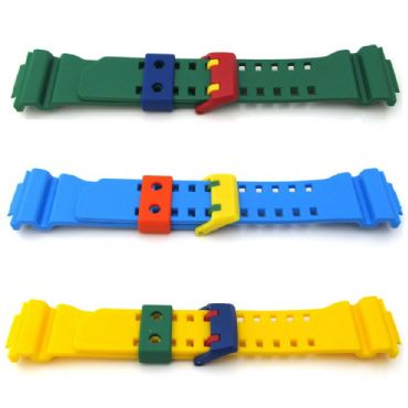 Original CASIO G SHOCK GA400 CRAZY COLOURS Watch Strap MULTI COLORS Rubber Band